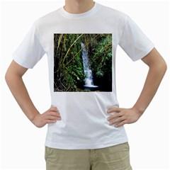 Bamboo waterfall Men s T-Shirt (White)