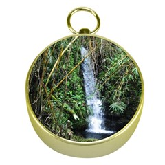 Bamboo waterfall Gold Compass