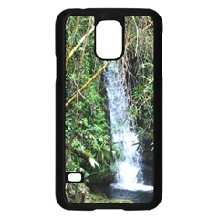 Bamboo waterfall Samsung Galaxy S5 Case (Black)