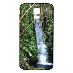 Bamboo waterfall Samsung Galaxy S5 Back Case (White)