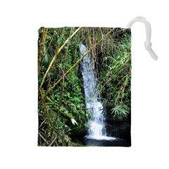 Bamboo waterfall Drawstring Pouch (Large)