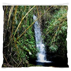 Bamboo waterfall Large Flano Cushion Case (One Side)