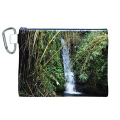 Bamboo waterfall Canvas Cosmetic Bag (XL)