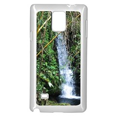 Bamboo waterfall Samsung Galaxy Note 4 Case (White)