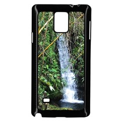 Bamboo waterfall Samsung Galaxy Note 4 Case (Black)