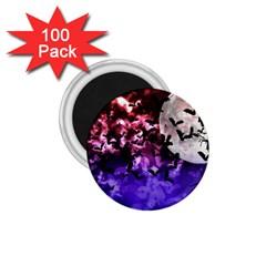 Bokeh Bats In Moonlight 1 75  Button Magnet (100 Pack)