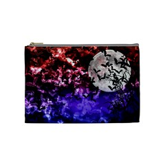 Bokeh Bats In Moonlight Cosmetic Bag (medium)