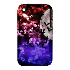 Bokeh Bats In Moonlight Apple Iphone 3g/3gs Hardshell Case (pc+silicone)