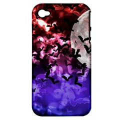 Bokeh Bats In Moonlight Apple Iphone 4/4s Hardshell Case (pc+silicone)
