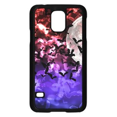 Bokeh Bats In Moonlight Samsung Galaxy S5 Case (black)