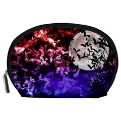 Bokeh Bats in Moonlight Accessory Pouch (Large)
