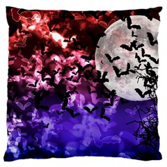 Bokeh Bats In Moonlight Large Flano Cushion Case (one Side)