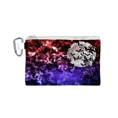 Bokeh Bats in Moonlight Canvas Cosmetic Bag (Small)
