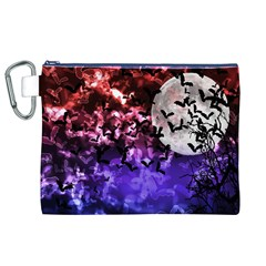 Bokeh Bats in Moonlight Canvas Cosmetic Bag (XL)