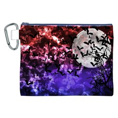 Bokeh Bats In Moonlight Canvas Cosmetic Bag (xxl)