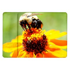 Bee On A Flower Samsung Galaxy Tab 10 1  P7500 Flip Case