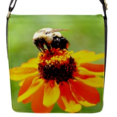 Bee On A Flower Flap Closure Messenger Bag (small)