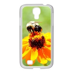Bee On A Flower Samsung Galaxy S4 I9500/ I9505 Case (white)