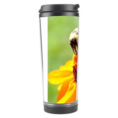 Bee on a Flower Travel Tumbler