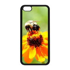 Bee on a Flower Apple iPhone 5C Seamless Case (Black)