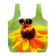 Bee on a Flower Reusable Bag (L)