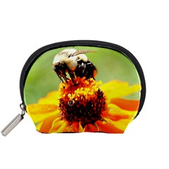 Bee on a Flower Accessory Pouch (Small)