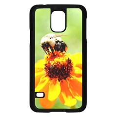Bee on a Flower Samsung Galaxy S5 Case (Black)