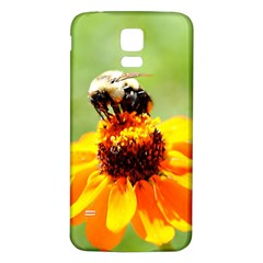 Bee On A Flower Samsung Galaxy S5 Back Case (white)