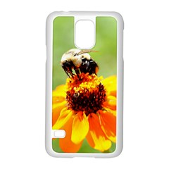Bee on a Flower Samsung Galaxy S5 Case (White)