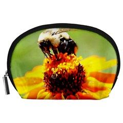 Bee on a Flower Accessory Pouch (Large)