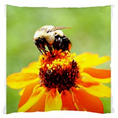 Bee on a Flower Standard Flano Cushion Case (One Side)