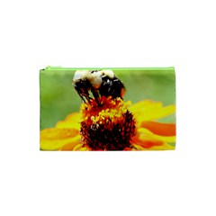Bee On A Flower Cosmetic Bag (xs)