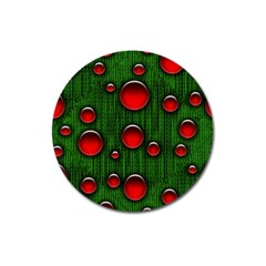 Geek Binary Digital Christmas Magnet 3  (round)