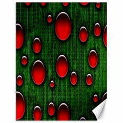 Geek Binary Digital Christmas Canvas 18  X 24  (unframed)