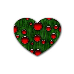 Geek Binary Digital Christmas Drink Coasters (heart)