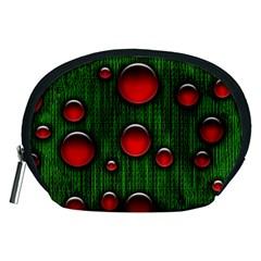Geek Binary Digital Christmas Accessory Pouch (Medium)