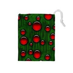 Geek Binary Digital Christmas Drawstring Pouch (Medium)