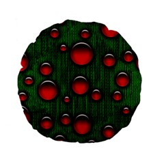 Geek Binary Digital Christmas 15  Premium Flano Round Cushion