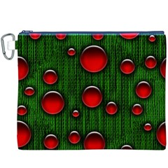 Geek Binary Digital Christmas Canvas Cosmetic Bag (XXXL)
