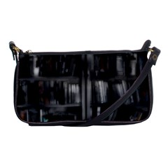 Black White Book Shelves Evening Bag