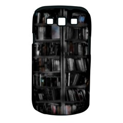 Black White Book Shelves Samsung Galaxy S Iii Classic Hardshell Case (pc+silicone)