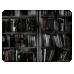 Black White Book Shelves Samsung Galaxy Tab 7  P1000 Flip Case
