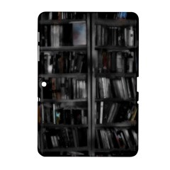Black White Book Shelves Samsung Galaxy Tab 2 (10.1 ) P5100 Hardshell Case