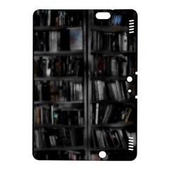 Black White Book Shelves Kindle Fire HDX 8.9  Hardshell Case