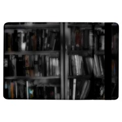 Black White Book Shelves Apple iPad Air Flip Case