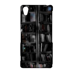 Black White Book Shelves Sony Xperia Z2 Hardshell Case