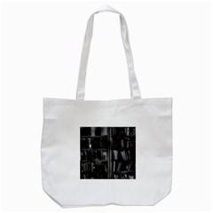 Black White Book Shelves Tote Bag (White)