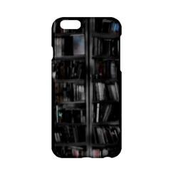 Black White Book Shelves Apple iPhone 6 Hardshell Case