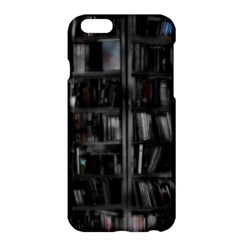 Black White Book Shelves Apple iPhone 6 Plus Hardshell Case
