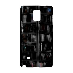 Black White Book Shelves Samsung Galaxy Note 4 Hardshell Case